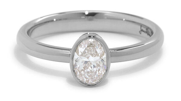Diamond, Oval, Engagement Ring